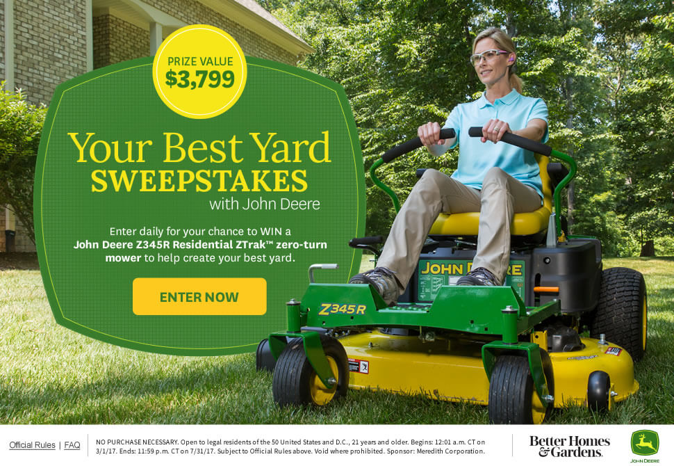 Your Best Yard Sweepstakes with John Deere