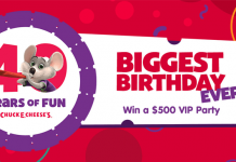 Chuck E. Cheese's Biggest Birthday Ever Sweepstakes