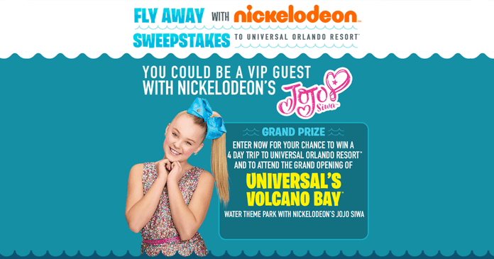 Fly Away With Nick Sweepstakes 2017