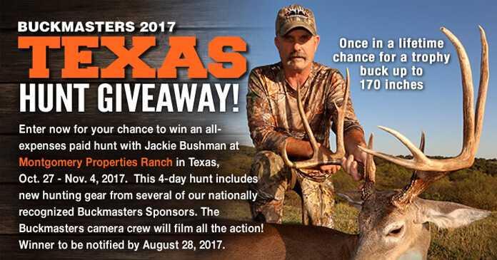 Buckmasters Texas Hunt Giveaway 2017