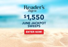 Reader's Digest June 2017 Jackpot Sweepstakes