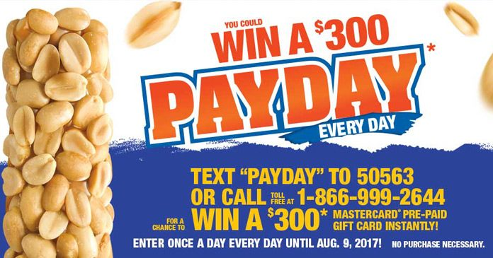 Hershey's PayDay Every Day Instant Win Game
