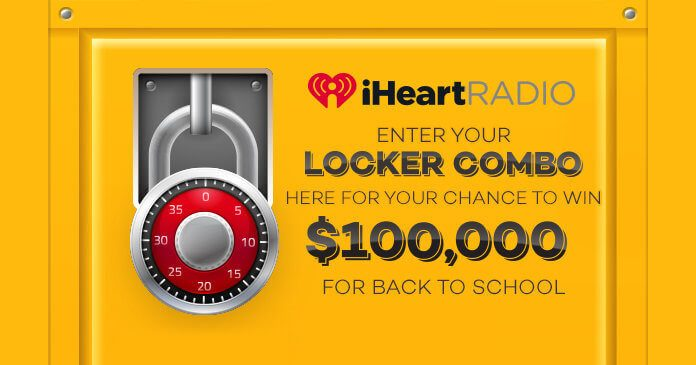 iHeartRadio $100,000 Locker Combination Guess Sweepstakes