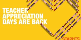 Staples Teacher Appreciation Sweepstakes