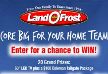 Land O'Frost Score Big For Your Home Team Sweepstakes
