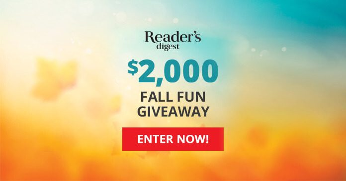 Reader's Digest $2,000 Fall Fun Giveaway