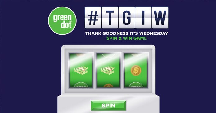 Green Dot TGIW Spin & Win Game