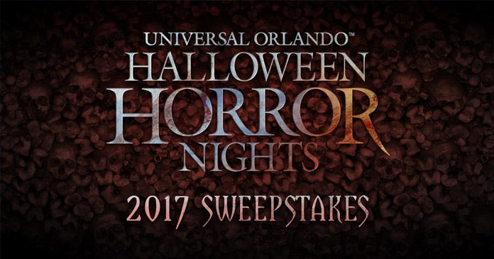 Halloween Horror Nights Sweepstakes 2017