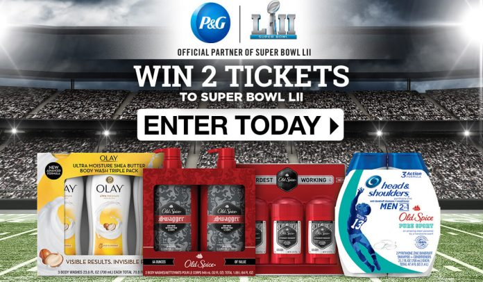 P&G Super Bowl Sweepstakes 2018 (PGFootballSweeps.com)
