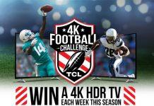 TCL 4K Football Challenge 2017 Sweepstakes