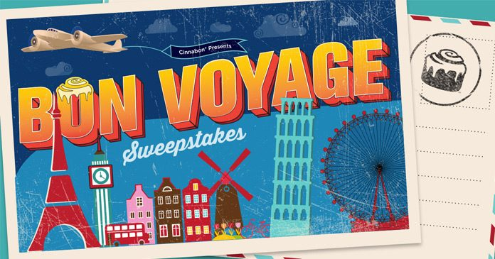 Cinnabon Bon Voyage Sweepstakes