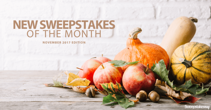New Online Sweepstakes (November 2017)