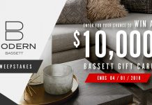Bassett Furniture B-Modern Sweepstakes