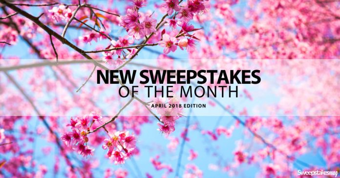 New Online Sweepstakes April 2018