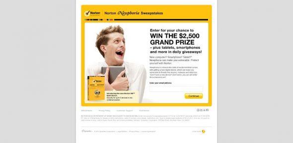 Norton Newphoria Sweepstakes
