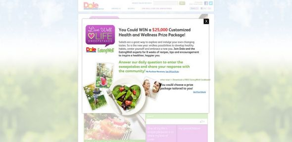 DOLE Salads Live Well Love Life Sweepstakes