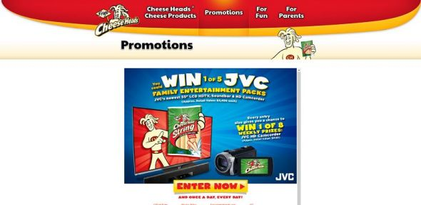 Frigo Cheese Heads Smile With String Cheese Sweepstakes