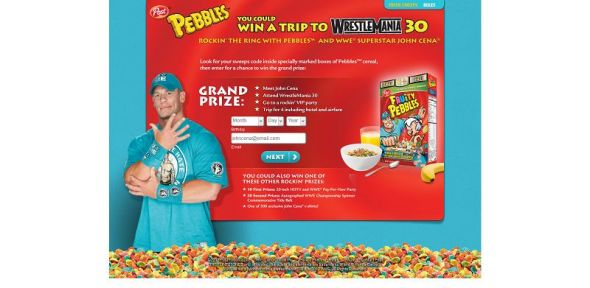 Post Pebbles WWE Sweepstakes