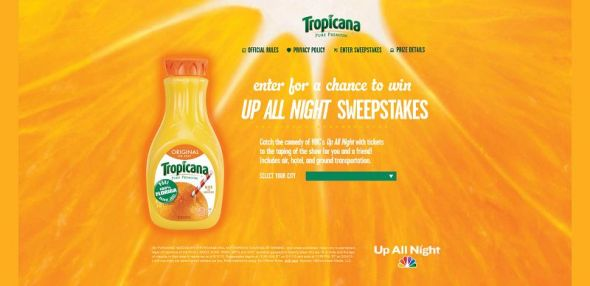 tropicanaupallnight.com – Tropicana Up All Night Sweepstakes
