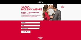 Simon Malls 10,000 Holiday Wishes Promotion