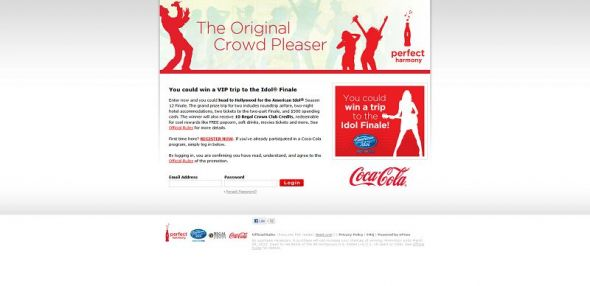 Coca-Cola Regal Crown Club/American Idol Sweepstakes