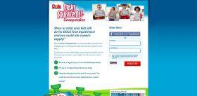 DOLE Fruit Squish'ems Pinterest Sweepstakes