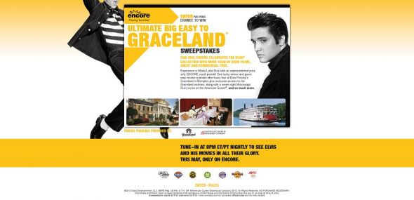 ENCORE Ultimate Big Easy to Graceland Sweepstakes,