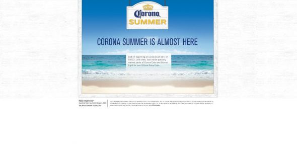 CoronaSummer.com – Corona Live It. Share It. Win It. Sweepstakes
