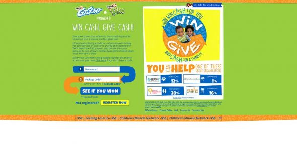 winandgive.org – Win Cash, Give Cash Instant Win Game