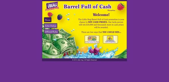 littlehugbarrelfullofcash.com – Little Hug Barrel Full of Cash Promotion