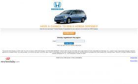 Very Best Baby Honda Odyssey Sweepstakes