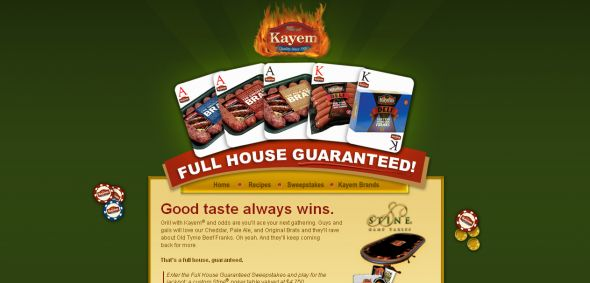 Kayem Full House Guaranteed Sweepstakes
