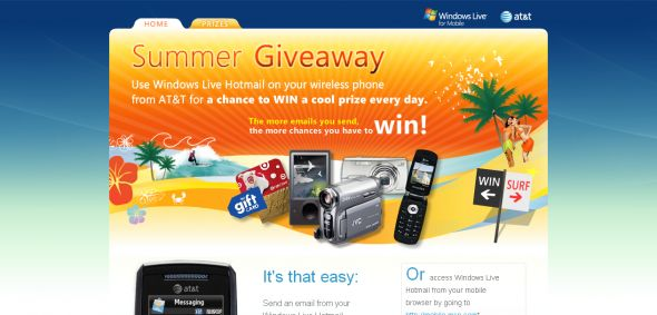 AT&T / Microsoft – Hotmail Summer Giveaway