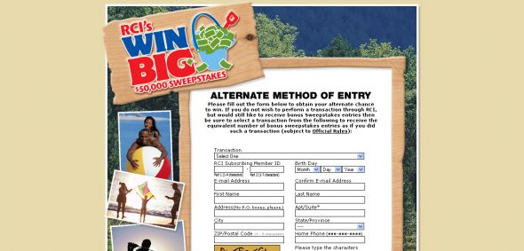 RCI's Win Big $50,000 Sweepstakes