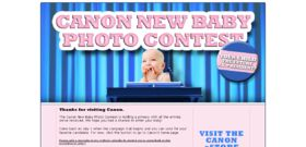 The Canon New Baby Photo Contest