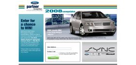 Ford Partner Recognition 2008 Instant Win Game