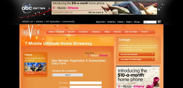 ABC.com – T-Mobile Ultimate Home Giveaway