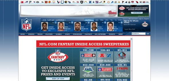 NFL.com Fantasy Inside Access Sweepstakes
