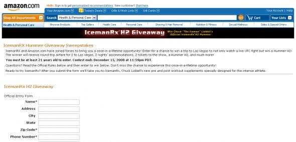 IcemanRX Hummer Giveaway Sweepstakes