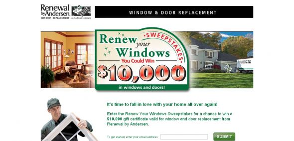 Renewal by Andersen – Renew Your Windows Sweepstakes