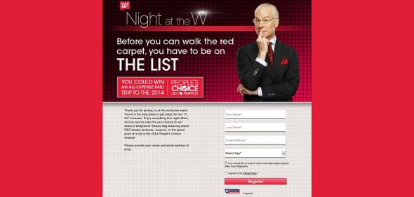 nightatthew.com – Walgreens Night at the W Instant Win