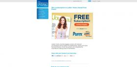 Purex Ladies' Home Journal Sweepstakes