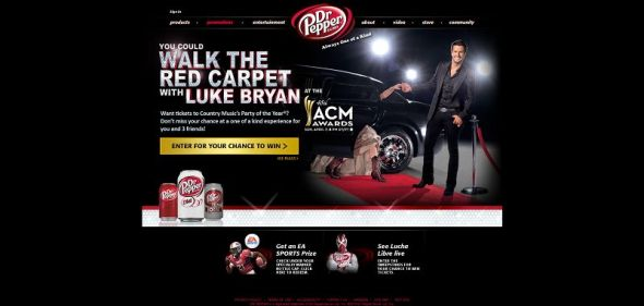 2013 Dr Pepper Academy of Country Music Awards Sweepstakes