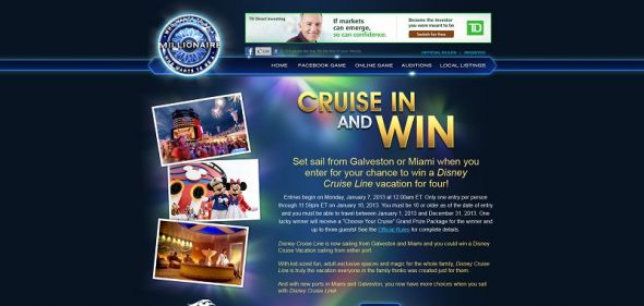 millionairetv.com – Who Wants To Be A Millionaire Cruise In and Win Sweepstakes