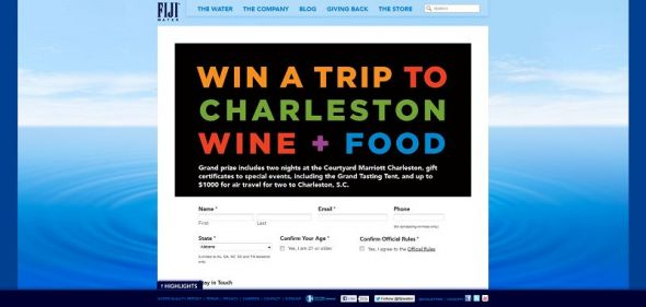 2013 Charleston Wine & Food Festival Sweepstakes