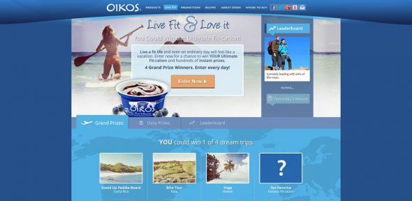 Dannon Oikos FitCation Sweepstakes