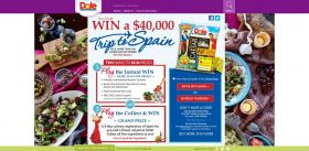DOLE Taste of Spain Getaway Collect & Win Game and Instant Win Game