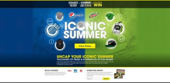 iconicsummer.com – Pepsi and Mountain Dew Iconic Summer Promotion
