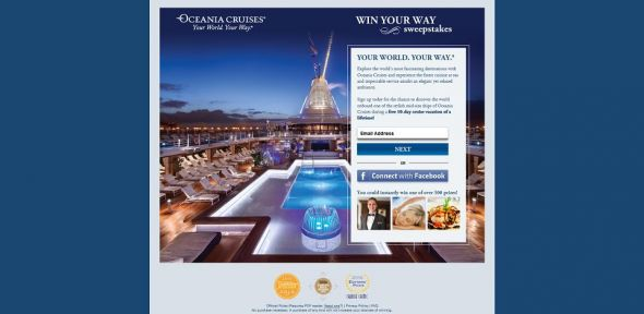 Oceania Cruises' Win Your Way Sweepstakes