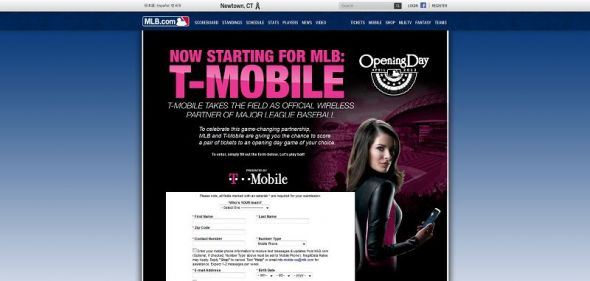 T-Mobile Opening Day Sweepstakes